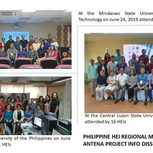 Philippine HEI regional meetings held for ANTENA Project info dissemination, survey