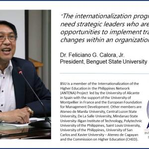 Dr. Feliciano G. Calora, Jr., president of Benguet State University