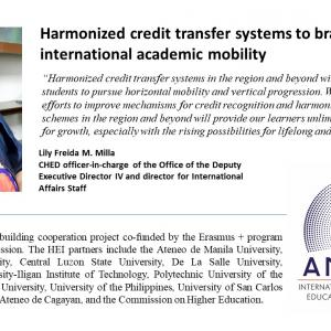 Harmonized credit transfer system to brace international academic mobility
